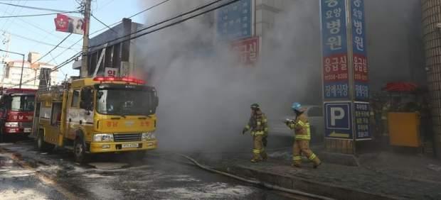 Incendio en un hospital de Corea del Sur