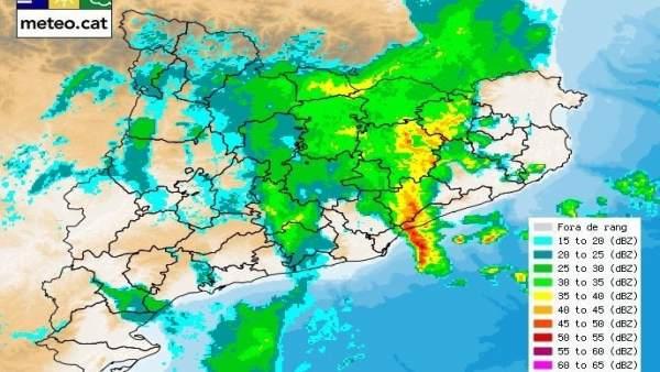 Mapa de precipitaciones del Servei Meteorològic de Catalunya
