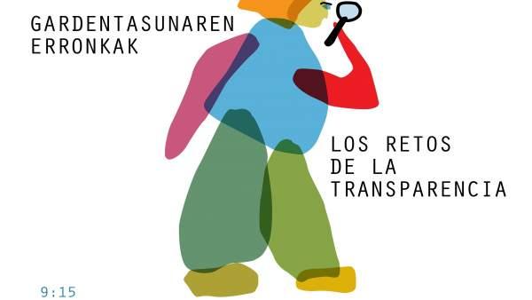 Cartel de la jornada del proyecto de Ley Foral de Transparencia