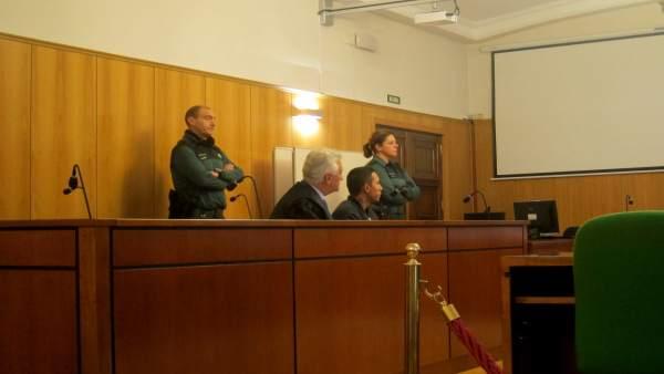 El condenado, en la Audiencia de Valladolid.