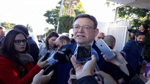 """Puig demana a Camps que """"per decència"""" abandone el CJC: """"Ha de deixar de fer mal a aquesta terra"""""""