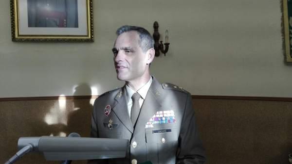 El general jefe de la Brigada de Infantería 'Guzmán el Bueno' X, Aroldo Lázaro