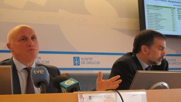 El gerente del Sergas, Antonio Fernández-Campa, a la izquierda