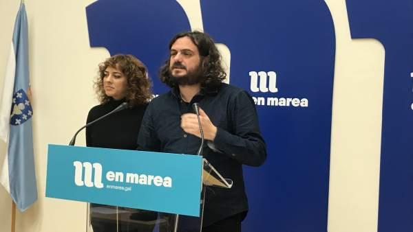 Antón Sánchez y Alexandra Fernández en rueda de prensa