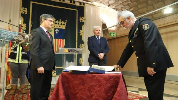 Antonio Rúa nuevo Comisario Jefe de la Unidad de Policía Adscrita a Aragón.