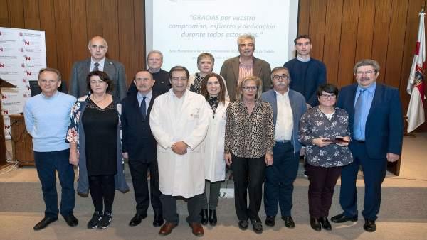 Grupo de trabajadores jubilados del Área de Salud de Tudela