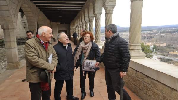 Miguel Gracia visita Graus