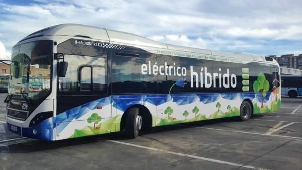 Autobús, EMT, transporte, híbrido, sostenible