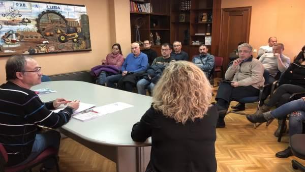 Asamblea de delegados del sector cárnico de UGT en Lleida