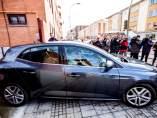Un vehículo abandona el juzgado de Aranda de Duero