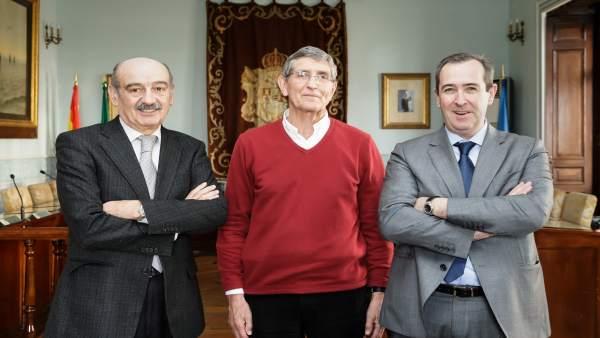 José María Mazón, Ángel Díaz Munío y Francisco Gómez Blanco