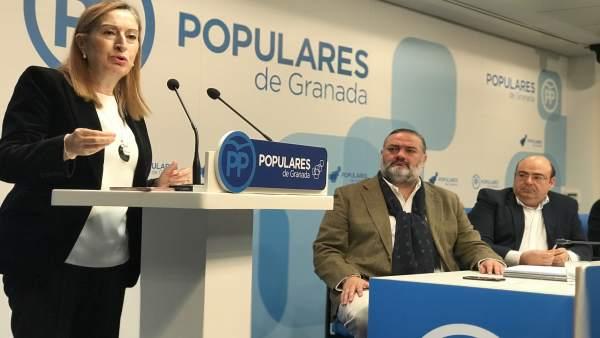 Ana Pastor, en la junta directiva provincial del PP