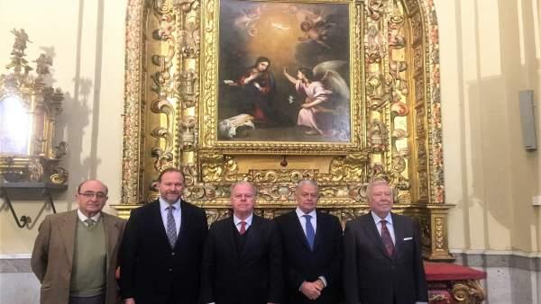 Visita de Caja Rural del Sur y su fundación a la iglesia de San Jorge