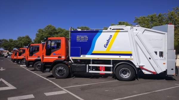 Camiones de recogida de residuos orgánicos de Giahsa.