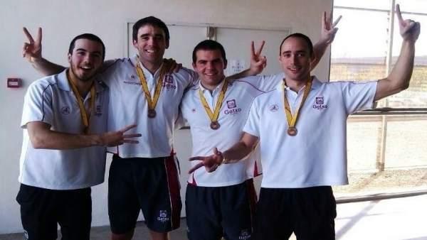 Los integrantes del Getxo Igeriketa Waterpolo