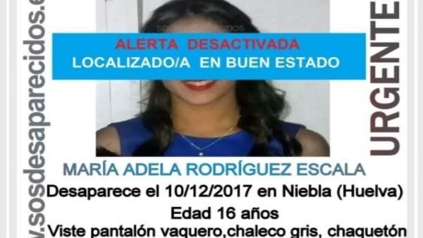 Localizada en buen estado la menor desaparecida en Niebla