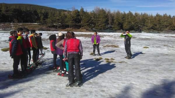 La jornada de deportes de invierno se ha desarrollado en el Puerto de la Ragua.