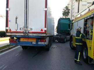 Accidente de un camión en Cádiz