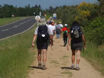 Peregrinos del Camino de Santiago (A Coruña)