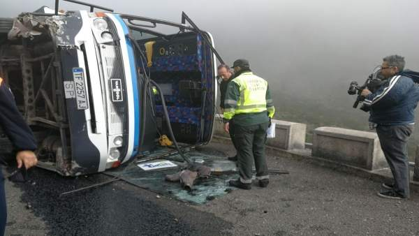 Guagua accidentada