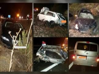 Tres muertos y cinco heridos en un accidente múltiple en Benissa, Alicante