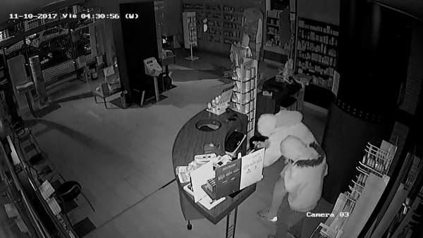 Grabación de uno de los robos
