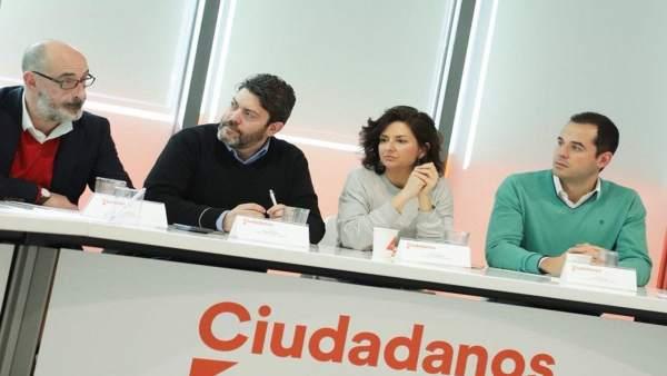 Reunión de portavoces autonómicos de Cs en Madrid