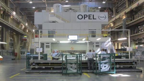 Planta de Opel en Figueruelas.