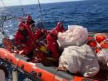 El equipo de rescate en la zona.