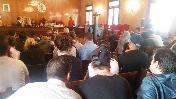 El clan de 'El Pablo' en la vista previa en la Audiencia