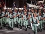 Legión, legionario, legionarios en el desfile del 12 de octubre del 2017