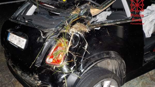 Imagen de uno de los accidentes de tráfico atendidos