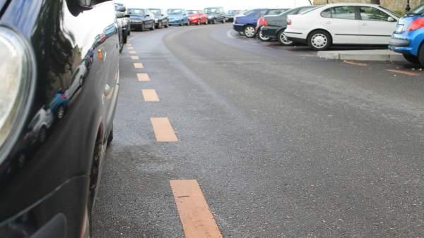 Linea naranja, aparcamientos de pago, zonas de apracamiento