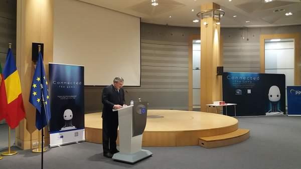 El presidente del Parlamento Europeo, Antonio Tajani