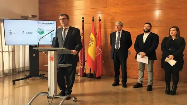 El alcalde de Murcia, José Ballesta, en rueda de prensa