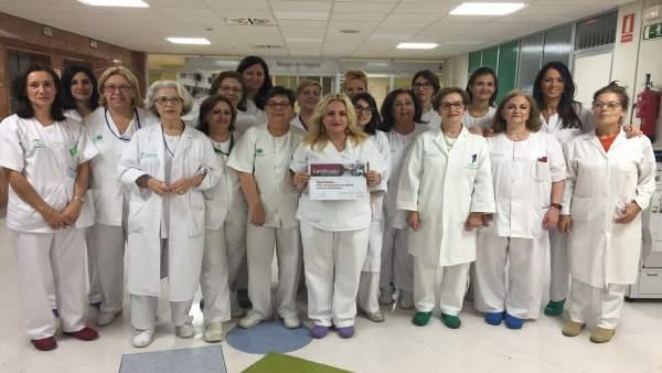 Enfermeras premiadas del Hospital Virgen Macarena