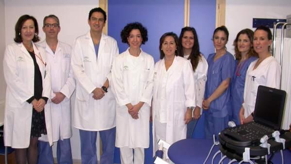 Profesionales del Hospital de Valme