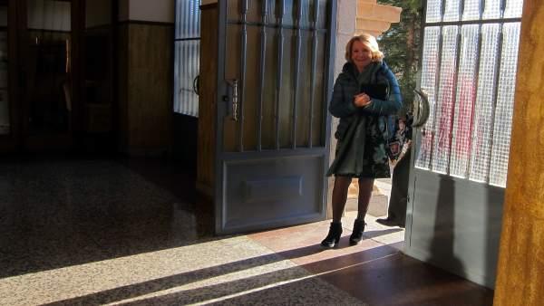 Aguirre a su llegada al Colegio San Agustín de Salamanca