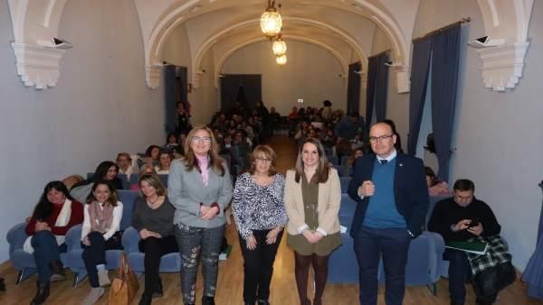 Luna, Gálvez, Ruiz y Carmona en la inauguración de la jornada