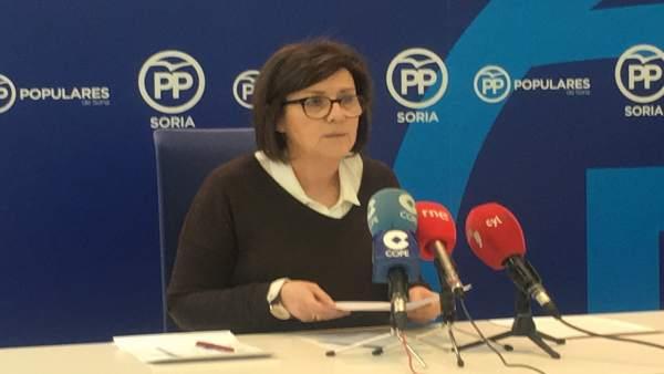 La presidenta del PP de Soria, Mar Angulo