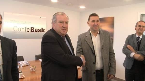 Reunión Confebask y EH Bildu