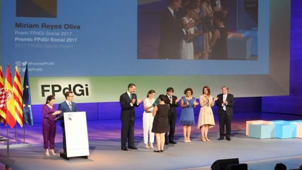Entrega de premios de la FPdGi con los Reyes