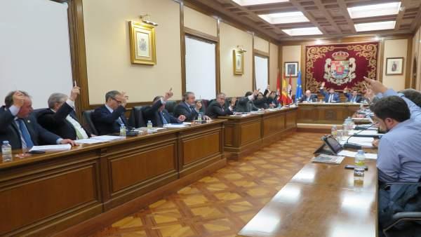 Pleno de la Diputación de Ávila.