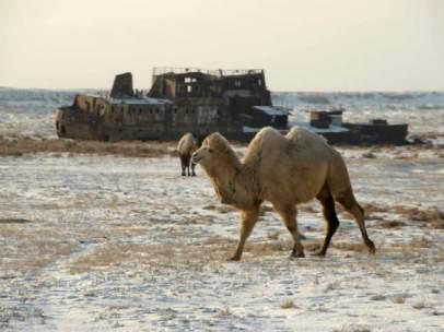 'Cementerio de barcos', Aral, Kazajistán, 2007. Alberto Prieto
