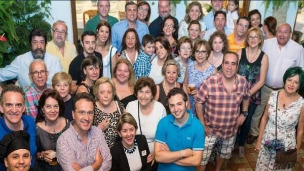 Representantes de Grupo Puerta Sevilla y la Asociación Patios, Rejas y Balcones