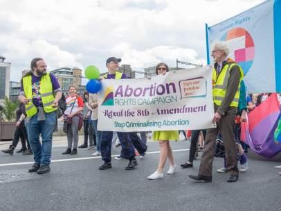 Manifestación a favor de la despenalización del aborto en Irlanda