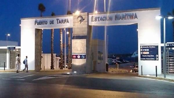Entrada al puerto de Tarifa