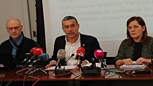 Miguel Laparra, en rueda de prensa.