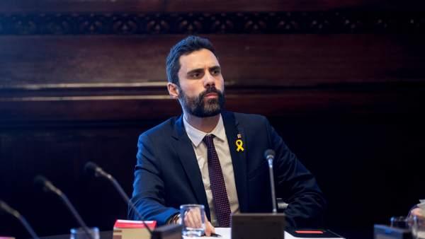 Roger Torrent (ERC), president del Parlament.