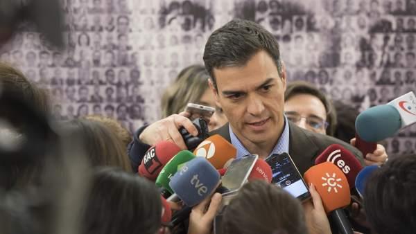 Pedro Sánchez, secretario general del PSOE, este martes en el Congreso.